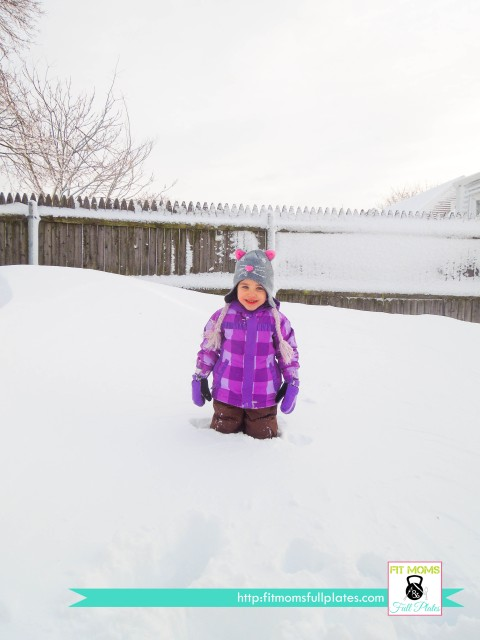 "Lil' One after Blizzard Nemo--that is a 6'-0"" fence behind her"