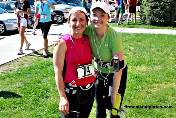 A picture of me & Dani from our first half marathon together in May 2010